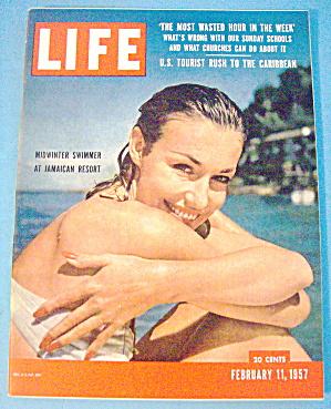 Life Magazine-February 11, 1957-Midwinter Swimmer (Image1)