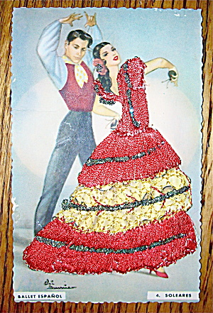 Ballet Espanol Postcard-Fabric Overlay-4. Soleares (Image1)