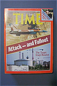 Time Magazine -june 22, 1981- The Target: Iraq Reactor
