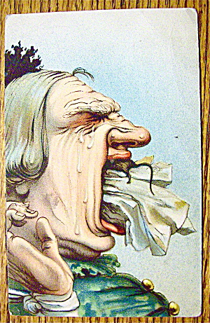A Man With A Cloth And Rat In His Mouth Postcard (Image1)