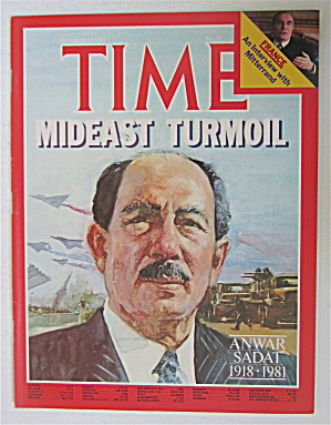 Time Magazine-october 19, 1981-anwar Sadat