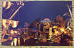 Pirate's Cove At Night Postcard (Magic Kingdom)