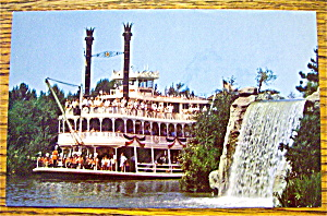 Mark Twain Sternwheel Steamboat In Disneyland
