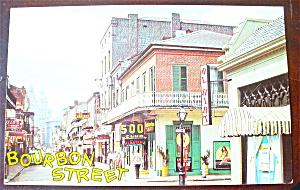 Bourbon Street, New Orleans Postcard (Image1)