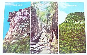 Franconia Notch, White Mountains Postcard (Image1)