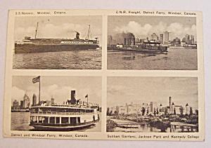 Views Of Windsor, Ontario Canada Postcard (Image1)