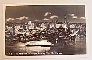 The Kalakala At Night Leaving Seattle Harbor Postcard (Image1)