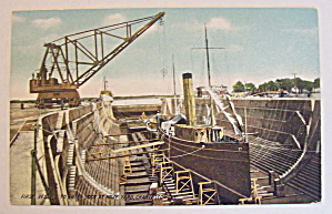 First Vessel To Enter Dock At Navy Yard Postcard (Image1)