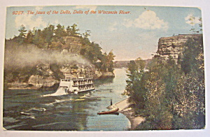 The Jaws Of The Dells, Wisconsin River Postcard (Image1)
