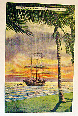 At Rest, At Sunset, Florida Postcard (Image1)