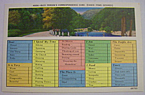 Busy Person's Correspondence Postcard