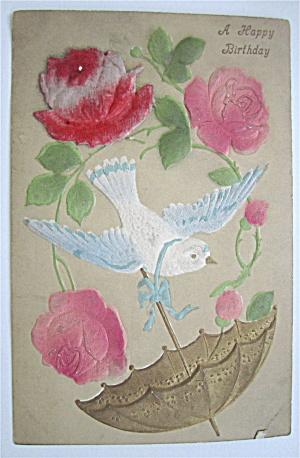 A Bird Holding An Umbrella Postcard (Image1)