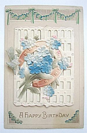 Flowers On A White Fence Postcard (Image1)