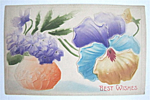 A Pot Of Flowers Postcard (Image1)