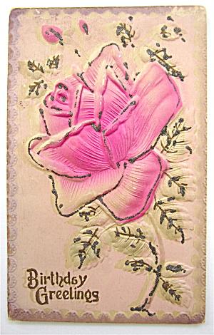 A Pink Rose Postcard (Image1)