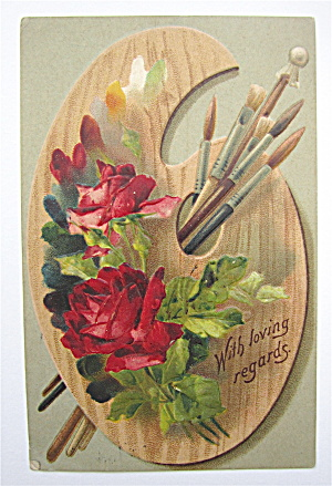 Red Roses And Green Leaves Postcard (Image1)