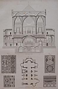 Eglise De St Francois A Assises (1852 Lithograph) (Image1)