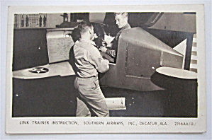 Link Trainer Instruction Poscard (Southern Airways) (Image1)