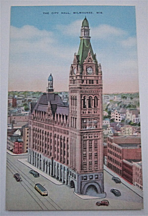 The City Hall Of Milwaukee, Wisconsin Postcard (Image1)