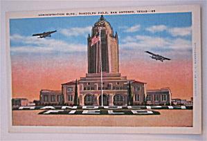 Administration Building, Randolph Field, Texas Postcard (Image1)