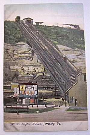 Mt. Washington Incline, Pittsburg, PA Postcard (Image1)