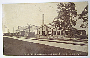 Field Fence Mill, Donora PA Postcard (Image1)