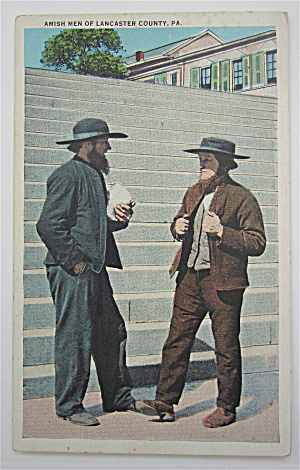 Amish Men Of Lancaster County, PA Postcard (Image1)