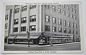 Walgreen's Drug Store, Raleigh, North Carolina Postcard (Image1)
