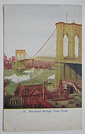Brooklyn Bridge, New York Postcard (Image1)