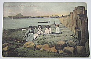 Fun On The Beach, Dunkirk, New York Postcard (Image1)