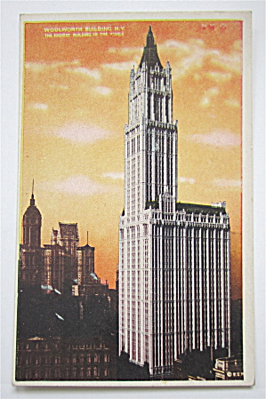 Woolworth Building, New York Postcard (Image1)