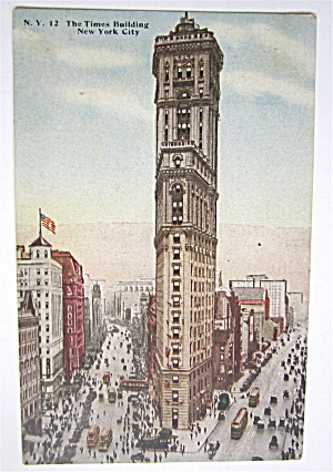 The Times Building, New York City Postcard (Image1)