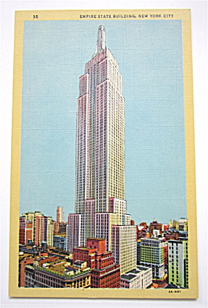 Empire State Building, New York City Postcard (Image1)
