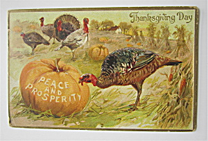 Thanksgiving Peace & Prosperity Postcard (Image1)