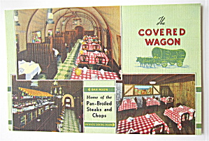 The Covered Wagon Restaurant, Chicago, Ill Postcard