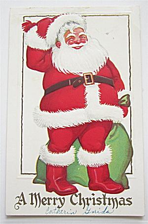Santa Claus Holding Toy Bag Postcard (Image1)