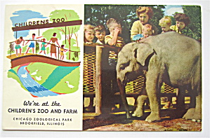 Children 's Zoo And Farm, Brookfield, Ill Postcard