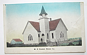M.E. Church, Ewing, Illinois Postcard (Image1)