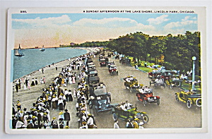 Sunday Afternoon At The Lake Shore, Chicago Postcard (Image1)