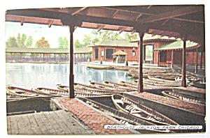 Boathouse, Jackson Park, Chicago Postcard (Image1)