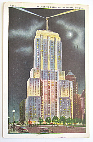 Palmolive Building, By Night, Chicago Postcard (Image1)