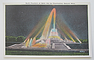 Scott Fountain At Belle Isle, Detroit, MI Postcard (Image1)