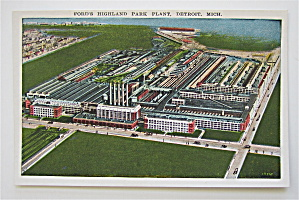 Ford's Highland Park Plant, Detroit, Michigan Postcard (Image1)
