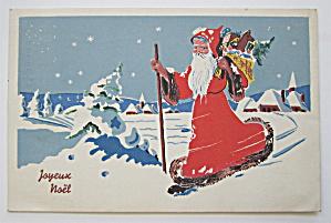 World War II Santa Claus Postcard (Image1)