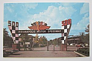 Indianapolis Motor Speedway Main Gate, Indiana Postcard (Image1)