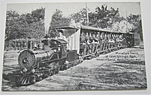 Miniature Trains At Eden Springs Postcard (Image1)