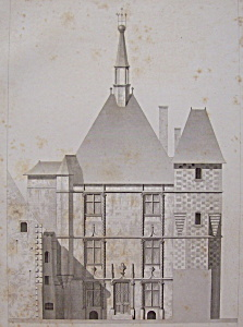 Hotel De Ville De Saumur (1852 Lithograph) (Image1)