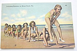 Frolicking Beauties On Miami Beach Postcard (Image1)