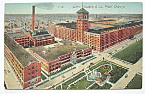 Sears, Roebuck And Co Plant, Chicago Postcard (Image1)