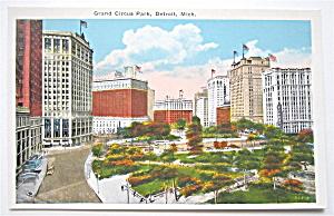 Grand Circus Park, Detroit Michigan Postcard (Image1)